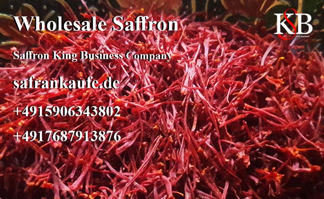 Export von losem Safran